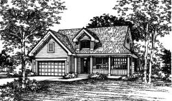 Country Style Home Design Plan: 15-401