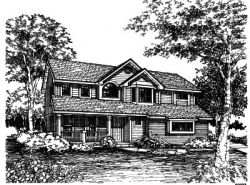 Contemporary Style Floor Plans Plan: 15-421