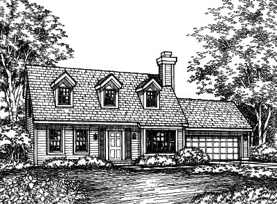 Cape-cod Style House Plans 15-425