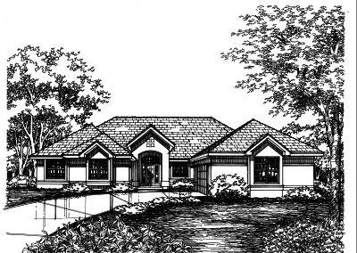Southwest Style Home Design Plan: 15-426