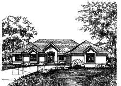Southwest Style Home Design Plan: 15-426
