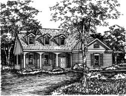 Country Style Floor Plans Plan: 15-447