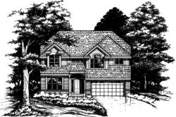Contemporary Style Home Design Plan: 15-459