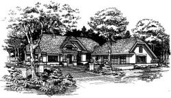 English-Country Style Floor Plans Plan: 15-462
