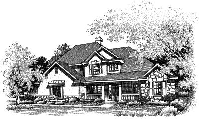Country Style Home Design Plan: 15-485