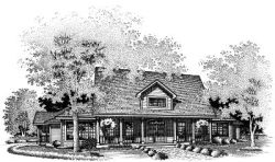 Country Style Floor Plans Plan: 15-487