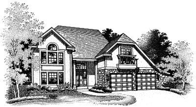 Contemporary Style Home Design Plan: 15-488