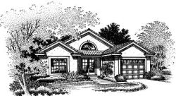 Southwest Style Home Design Plan: 15-510