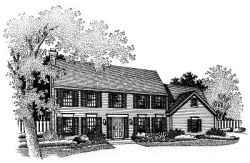 Colonial Style Floor Plans Plan: 15-513
