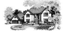 New-England-Colonial Style Floor Plans Plan: 15-520