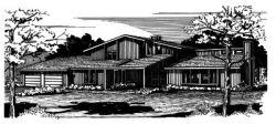 Contemporary Style Home Design Plan: 15-584
