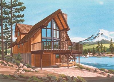 Contemporary Style Home Design Plan: 15-634