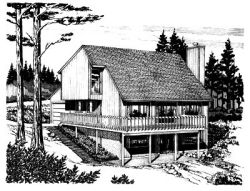 Contemporary Style House Plans Plan: 15-648