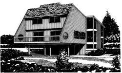 Contemporary Style Home Design Plan: 15-650