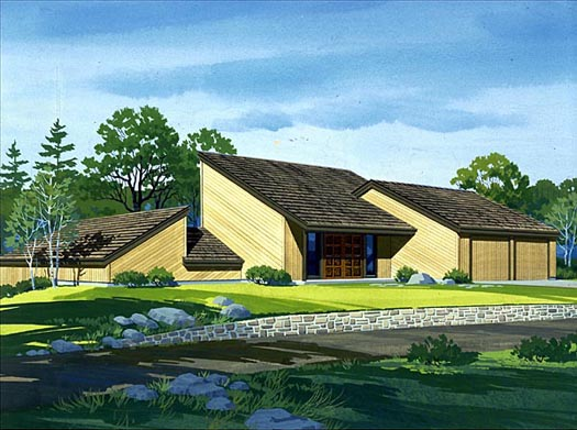 Contemporary Style Home Design Plan: 15-653