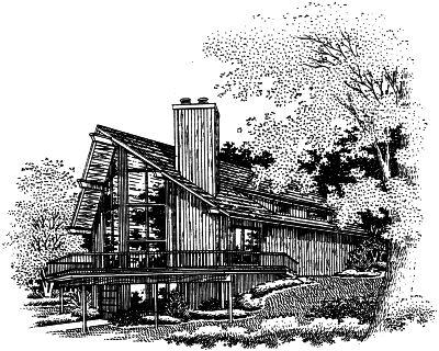 Contemporary Style Home Design Plan: 15-659
