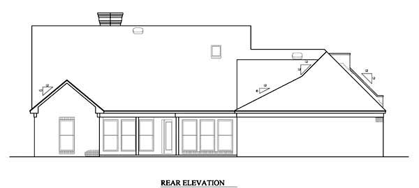 Rear Elevation Plan: 15-674