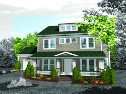Southern-Colonial Style Home Design Plan: 15-682