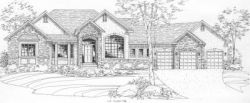 Traditional Style Home Design Plan: 15-718