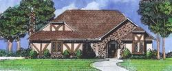 English-Country Style House Plans Plan: 15-725