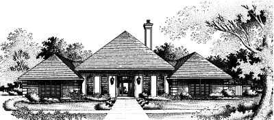 Contemporary Style House Plans Plan: 15-727