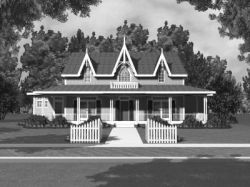 Country Style Home Design Plan: 15-750