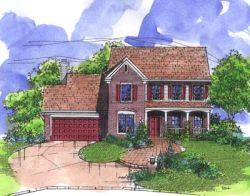 Southern-Colonial Style Home Design Plan: 15-759