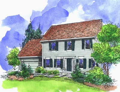 Early-american Style Floor Plans Plan: 15-773