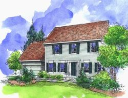 Early-American Style House Plans Plan: 15-773