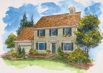 Early-american Style House Plans Plan: 15-783