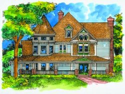 Victorian Style Home Design 15-788