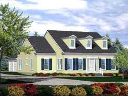 Cape-Cod Style Home Design Plan: 15-791