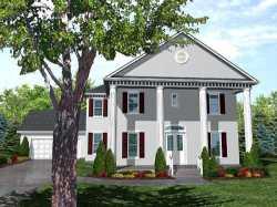 Greek-Revival Style Floor Plans Plan: 15-799