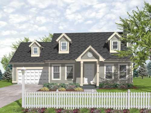 Cape-cod Style House Plans Plan: 15-903