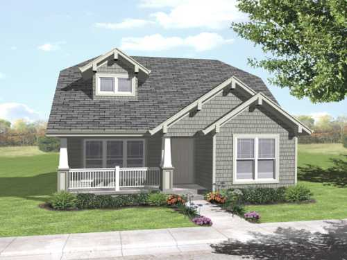 Craftsman Style Home Design Plan: 15-916
