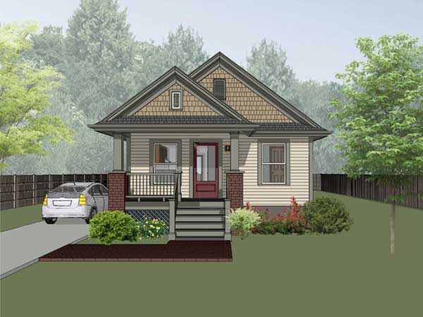 Bungalow Style Floor Plans Plan: 16-101