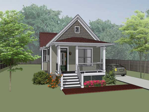 Bungalow Style Home Design Plan: 16-104