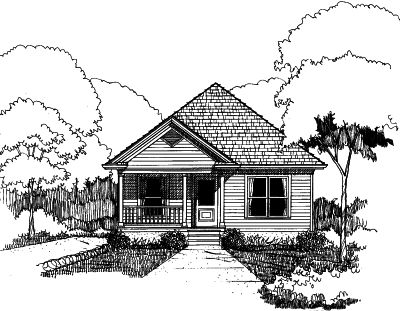 Bungalow Style Floor Plans Plan: 16-110