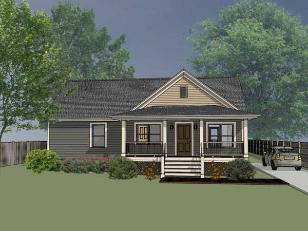 Country Style Home Design Plan: 16-118
