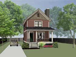 Southern Style Home Design 16-132