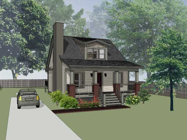 Bungalow Style Home Design Plan: 16-140