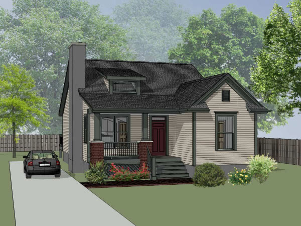 Bungalow Style Home Design Plan: 16-161