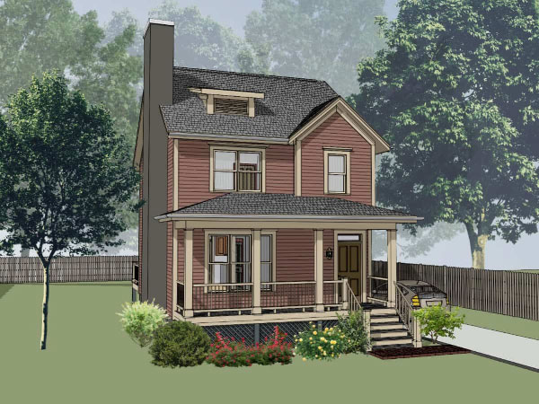 Southern Style Home Design Plan: 16-175