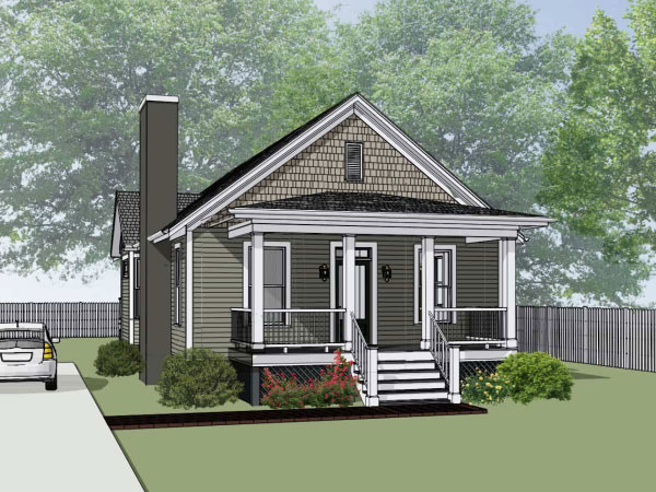 Bungalow Style House Plans Plan: 16-176