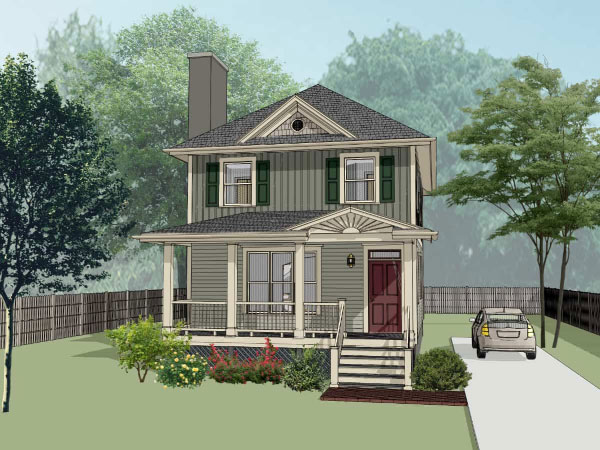 Southern Style Home Design Plan: 16-199