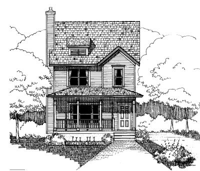 Southern Style Home Design Plan: 16-200