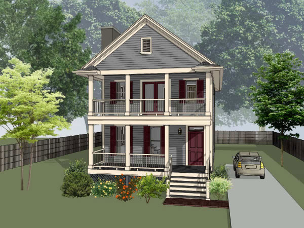 Southern Style Home Design Plan: 16-202