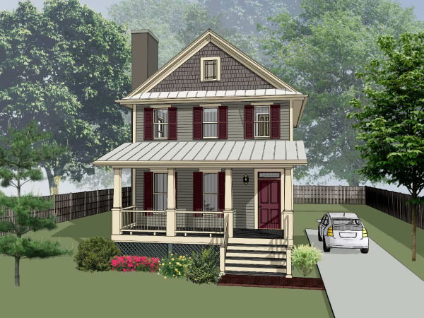 Cottage Style Home Design Plan: 16-204