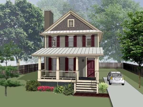 Cottage Style Floor Plans Plan: 16-204