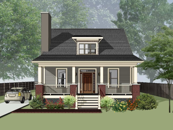 Bungalow Style Home Design Plan: 16-209